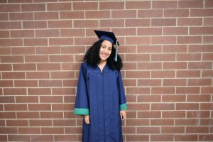 Arianna McCurry is excited to be one of the members of the first graduating class at GCHS.
