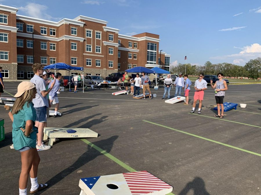 Tailgates in the parking lot are a new event for the Kettle.  The goal is that food and games before events will encourage more participation.