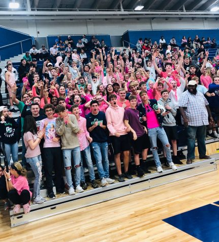 The Kettle has been active at a variety of sports events, not just the football and basketball as has been past tradition.  The volleyball team had lots of student support in the first game of the regional playoffs on October 28th, 2019.