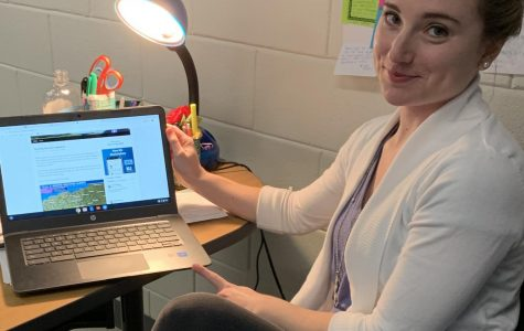 Math teacher Heidi Little is a frequent reader of Chris Bailey's weather blog in order to stay aware of potential snow days.