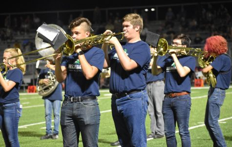 Marching band provides an opportunity for music students to both support athletic teams and help encourage school spirit while building friendships and a strong sense of community.