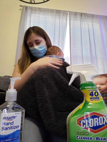 Erica Bobadilla became a first-time parent during the pandemic and takes precautions to keep her newborn son Levi safe from covid-19.