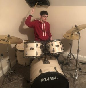 Junior Jake Bramel has used his extra time at home due to the pandemic to practice music.