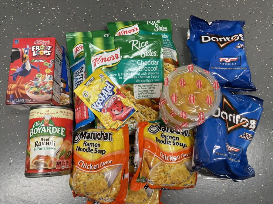 The backpack program sends home breakfast, lunch and snack items each Friday so that students avoid hunger over the weekend.