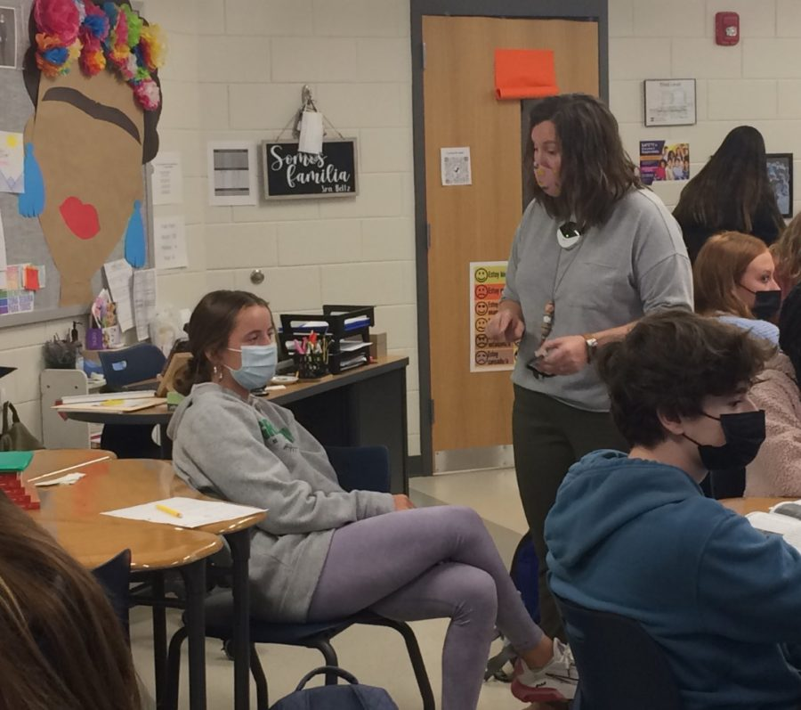 Tia Beltz enjoys teaching her Spanish students culture, as well as the language.